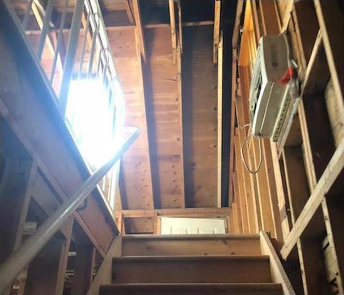 fire damage restoration services to residential attic