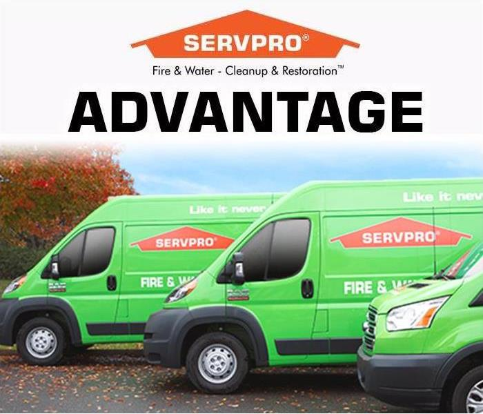 SERVPRO green van with dedicated staff, here to help 24/7 Everyday